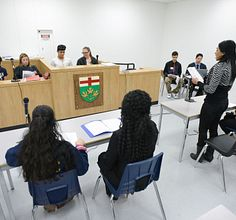 A simulated trial in law class