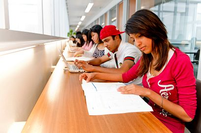 Picture of Centennial College Students at the library