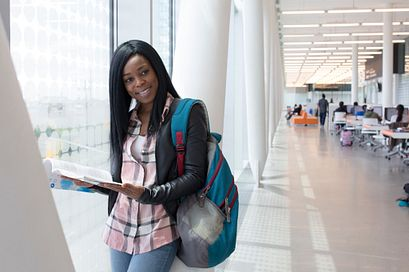 Picture of Centennial College student at the Ashtonbee Library