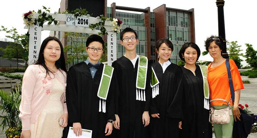 Led young College International Student Graduates at Progress Campus