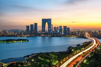 Suzhou City Skyline