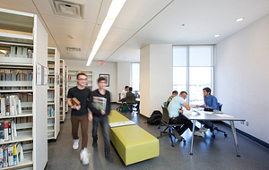 Students at the progress campus study room