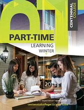 Link to the Centennial College Part-time 2018 Winter Catalogue, a download link is available