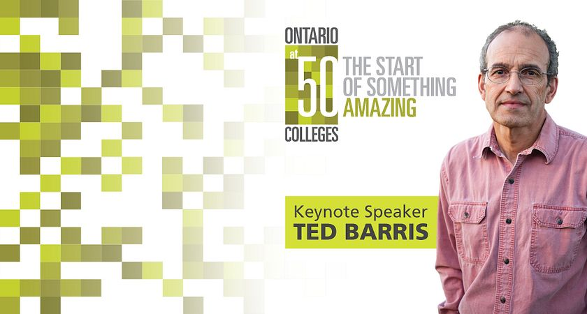 Picture of Centennial College Guest Speaker Ted Barris