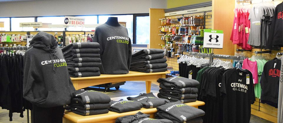 picture of the Centennial College campus bookstore at Progress Campus