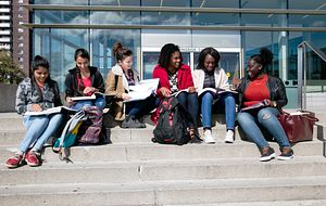 Image of students at Morningside campus