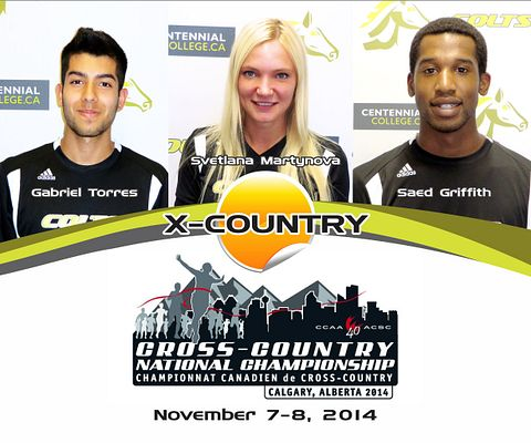 Centennial College COLTS Cross-country Running team heading to the CCAA Nationals.