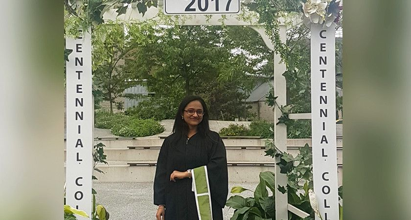 Picture of Maitri Patel at the 2017 Convocation Ceremony