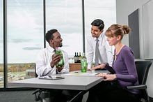 picture of Centennial College Advanced Business Management Alcoholic Beverages program students in a mock sales meeting