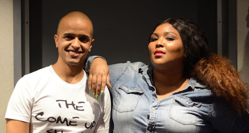Picture of Adulis Chedo Mokanan with Minnesota rapper Lizzo