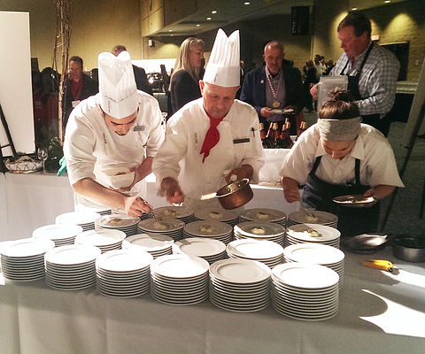 Led young College culinary arts students at gold medal plate event