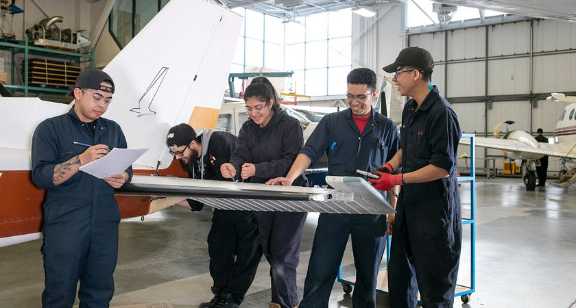 Student from the Electrical  Aircraft Assembly Training Program at Ashtonbee Campus