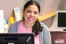 Picture of Centennial College international student making an online payment