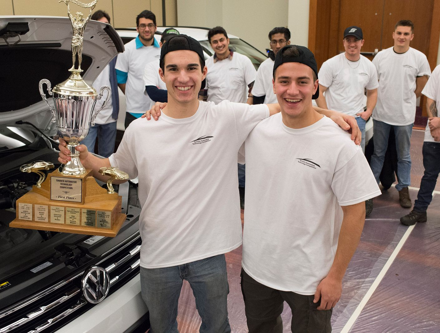 St. Brother Andre Catholic High School students win auto skills competition