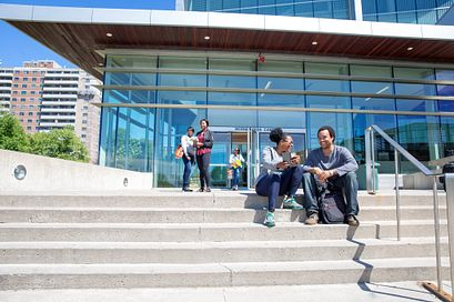 Photo of Students outside of Morningside Campus