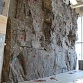 Rock wall at the Progress training facilities