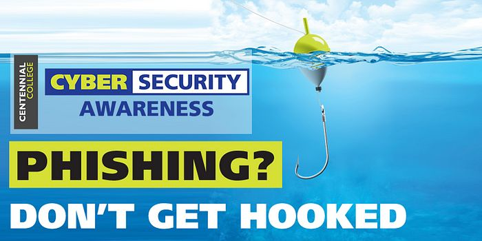Poster of phishing for Cyber Security Awareness Month