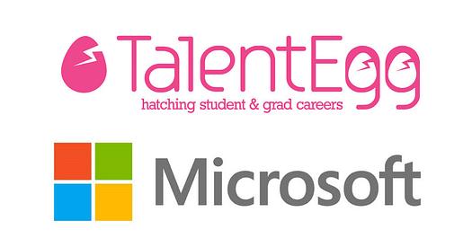 Microsoft and TalentEgg logo