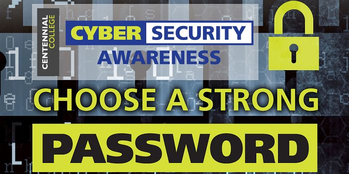 Poster of passwords for Cyber Security Awareness Month