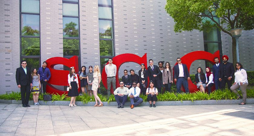 Photo of Suzhou Centennial College faculty and students