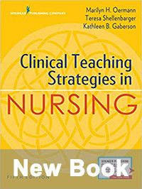 New book cover: Clinical teaching strategies in Nursing