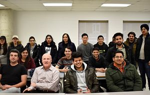 Photo of Business Class Students and Professor