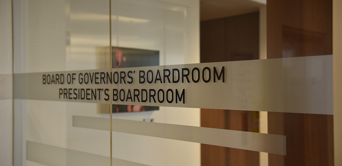 Board of Governors President's Boardroom door