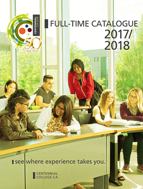 picture of the Centennial College Full-time Calendar 2017-2018 cover