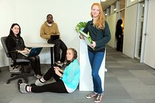 Image of a group of Centennial College students working