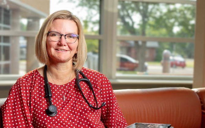Lisa Barnes, Nurse Practitioner at Centura Health's Bob Wilson Hospital in Ulysses, Kansas.
