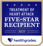 Five-Star Recipient for Treatment of Heart Attack for 2 Years in a Row (2020-2021)