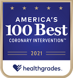 One of Healthgrades America's 100 Best Hospitals for Coronary Intervention™ in 2021