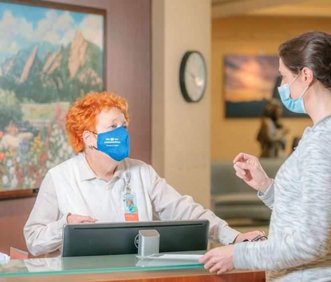 Patient donating in person at Porter Adventist Hospital
