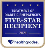 Five-Star Recipient for Treatment of Diabetic Emergencies in 2021