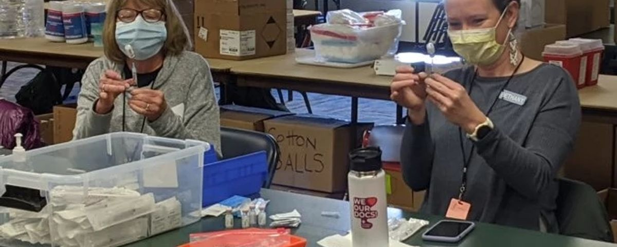 community vaccine clinic held every Saturday at the La Plata County Fairgrounds