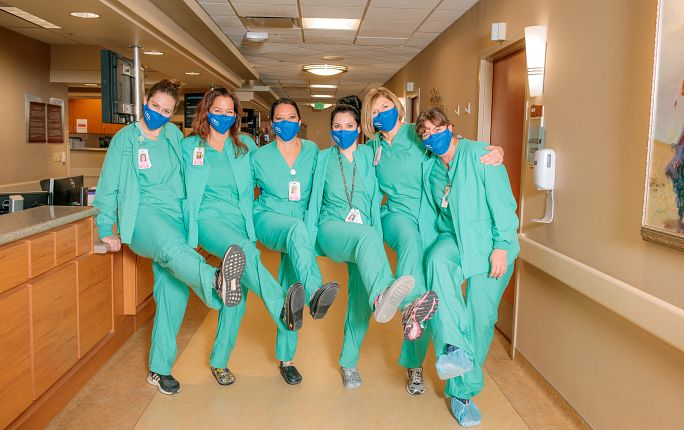 Labor and delivery nurses at Mercy Regional Medical Center