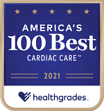 One of Healthgrades America's 100 Best Hospitals for Cardiac Care™ in 2021