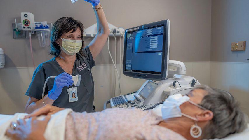 Patient getting ultrasound