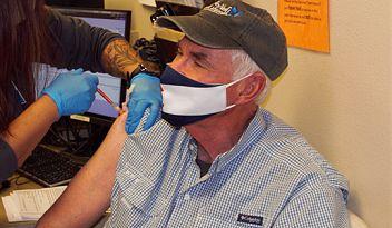 Senior receives COVID-19 vaccine