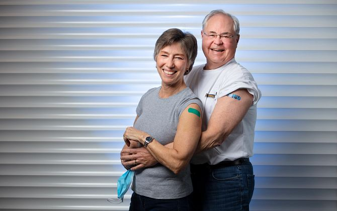 vaccinated couple