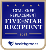 Five-Star Recipient for Total Knee Replacement in 2021