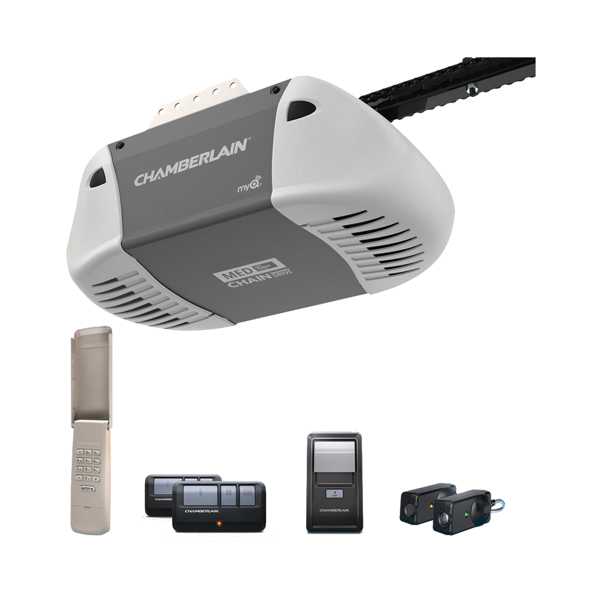 C410 Durable Chain Drive Garage Door Opener with MED Power IN BOX