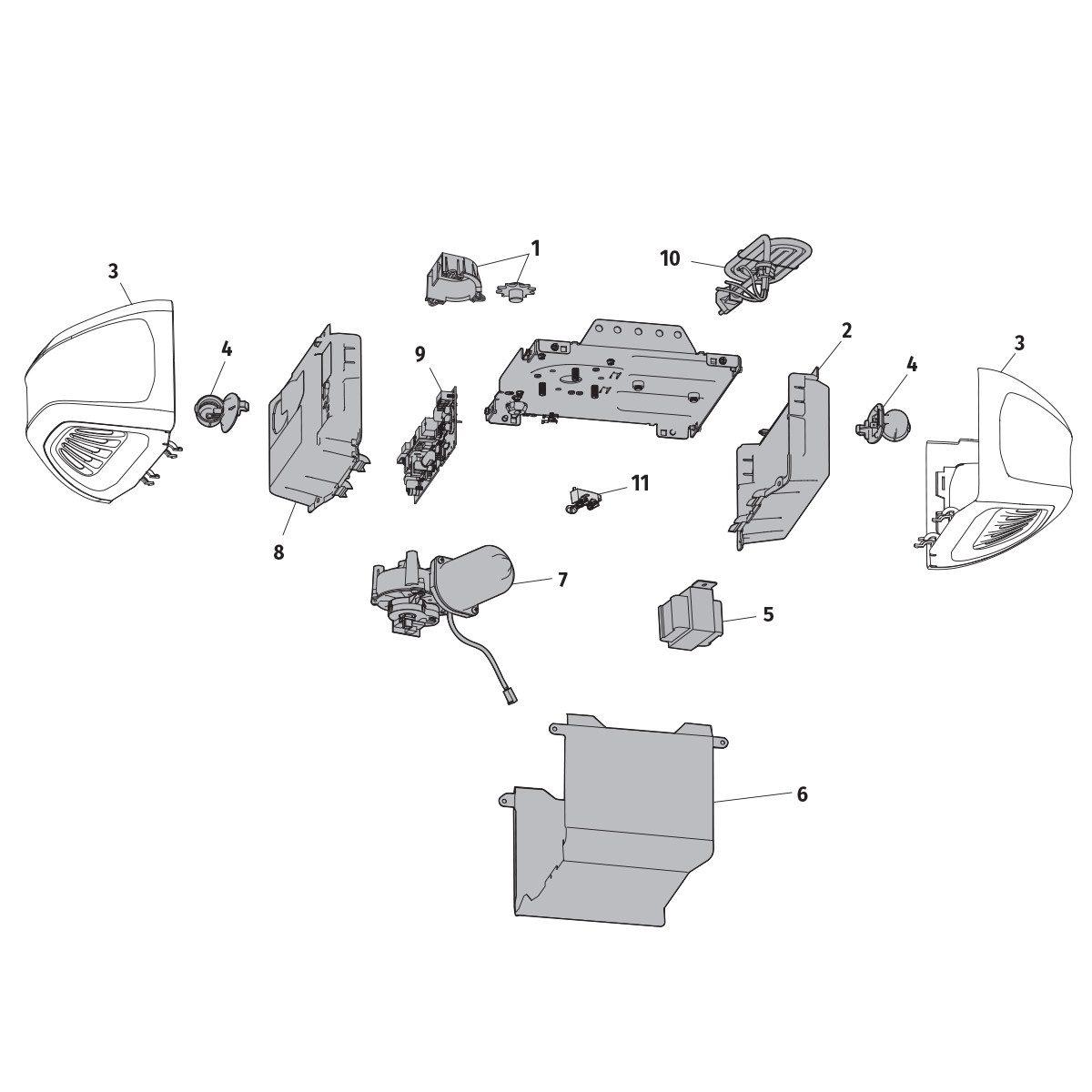 Schéma des pièces