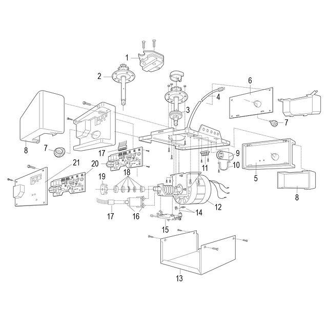 1346 1/3 HP AC Chain Drive Garage Door Opener Garage Door Opener Wiring Diagram For Lift Master on