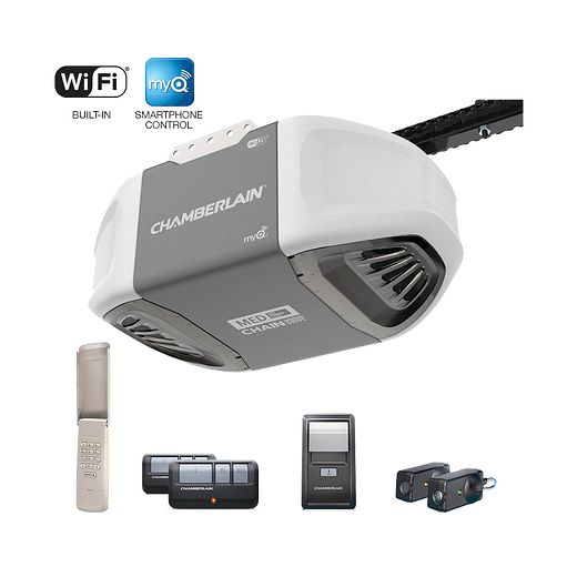 C450 C450C Smartphone-Controlled Durable Chain Drive Garage Door Opener with MED Power IN BOX