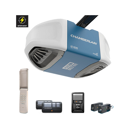 B730 Ultra-Quiet Strong Belt Drive Garage Door Opener with Battery Backup PLUS Power IN BOX