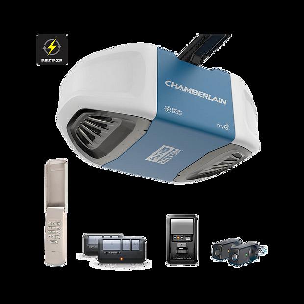 """[""""B730 Ultra-Quiet Strong Belt Drive Garage Door Opener with Battery Backup PLUS Power IN BOX""""]"""