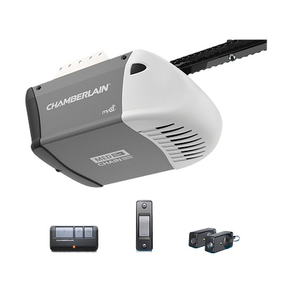 C203 Durable Chain Drive Garage Door Opener with MED Power IN BOX