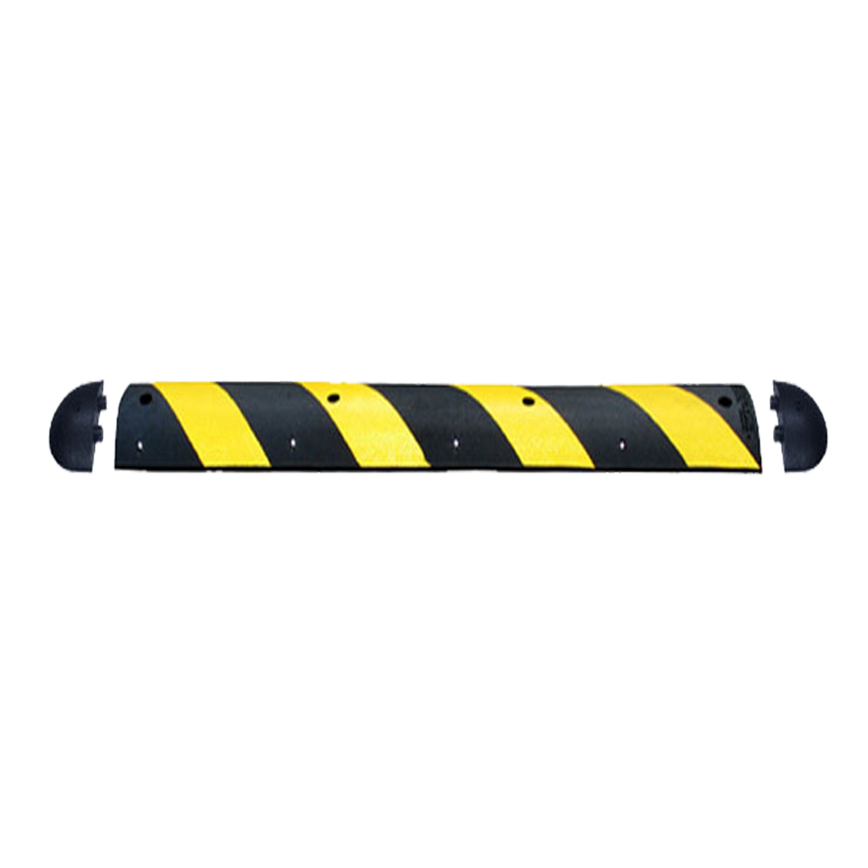 16100-4 16100-6 16100E Speed Bump 4'-6' Striped Yellow HERO