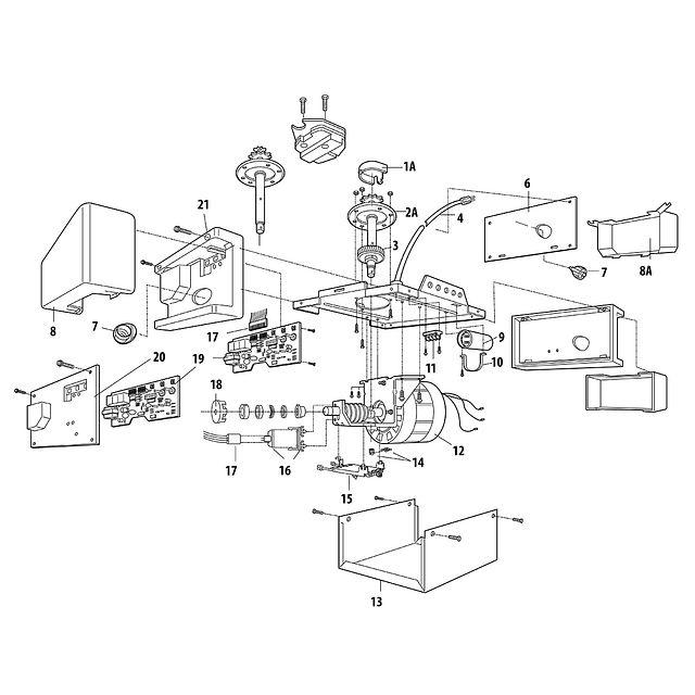 1345 1/3 HP AC Chain Drive Garage Door Opener Garage Door Opener Wiring Diagram For Lift Master on